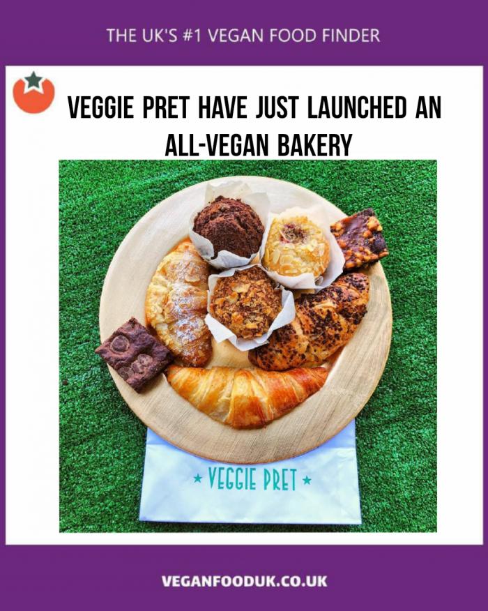 Veggie Pret Launch All-Vegan Bakery