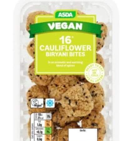 Asda 16 Cauliflower Biryani Bites