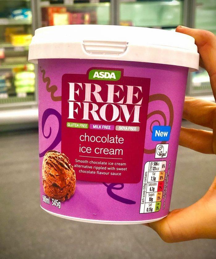 Asda Free From Chocolate Ice Cream 345g