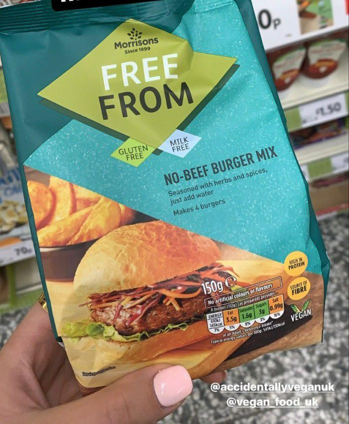 Morrisons Free From No Beef Burger Mix 150g