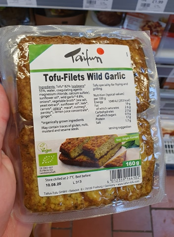 Taifun Tofu Filets Wild Garlic 160g