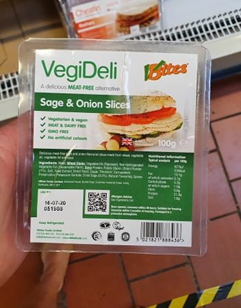 Vbites VegiDeli Sage and Onion Slices 100g