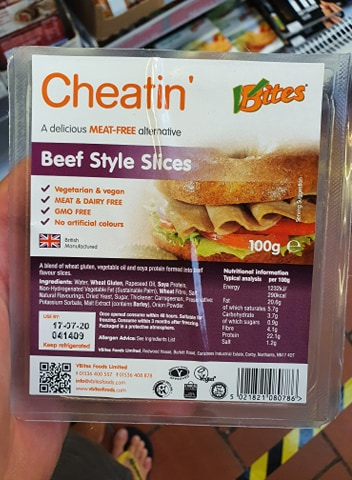 Vbites Cheatin Beef Style Slices 100g