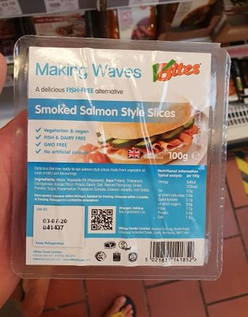 VBites Making Waves Smoked Salmon Style Slices 100g