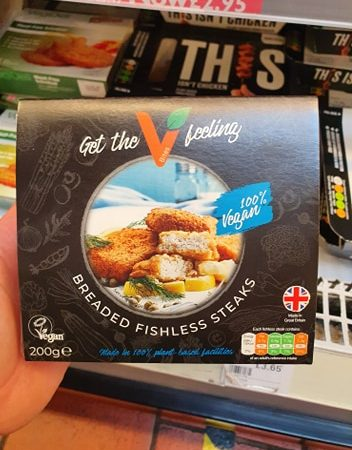 VBites Breaded Fishless Steaks 200g
