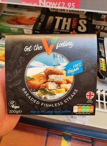 VBites Breaded Fishless Steaks 200g