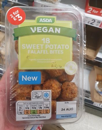 Asda Vegan 18 Sweet Potato Falafel Bites 180g