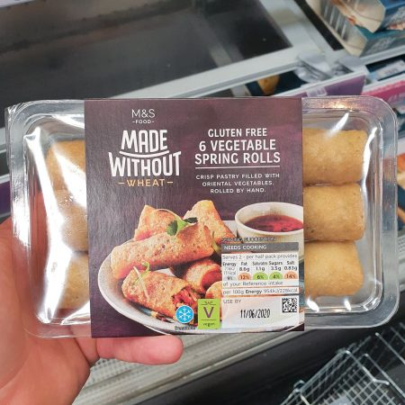M&S Gluten Free 6 Vegetable Spring Rolls 150g
