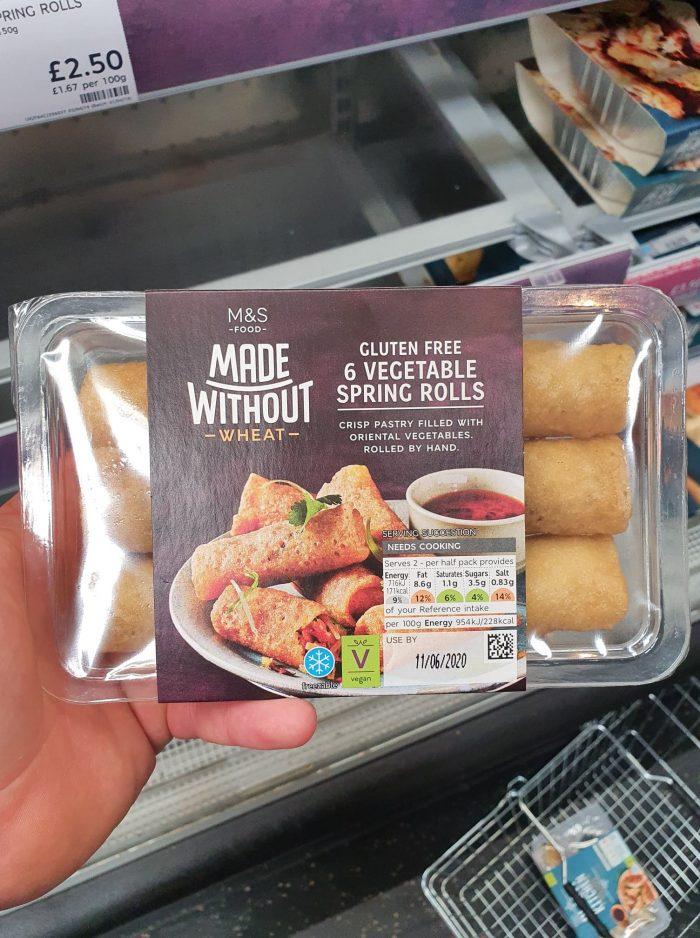 M&S Gluten Free 6 Vegetable Spring Rolls 150g