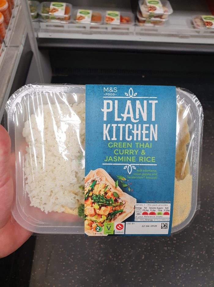 M&S Plant Kitchen Green Thai Curry and Jasmine Rice 350g