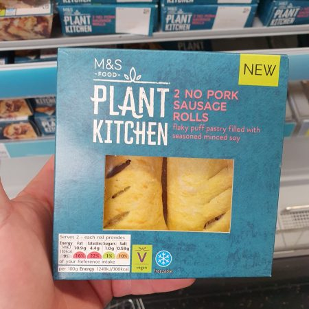 M&S Plant Kitchen 2 No Pork Sausage Rolls 120g