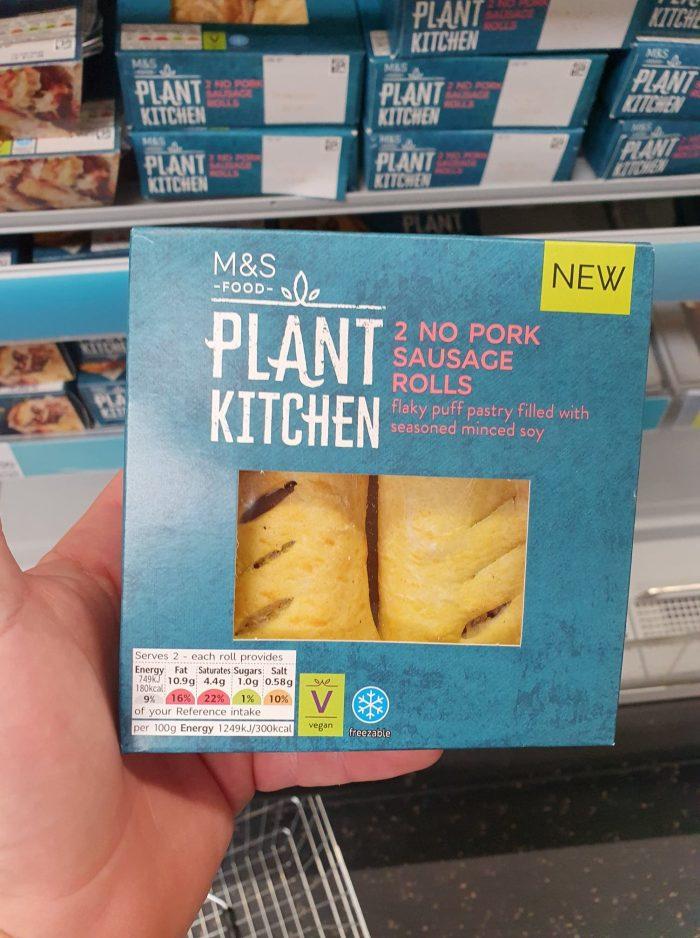 M&S Plant Kitchen 2 No Pork Sausage Rolls 120g