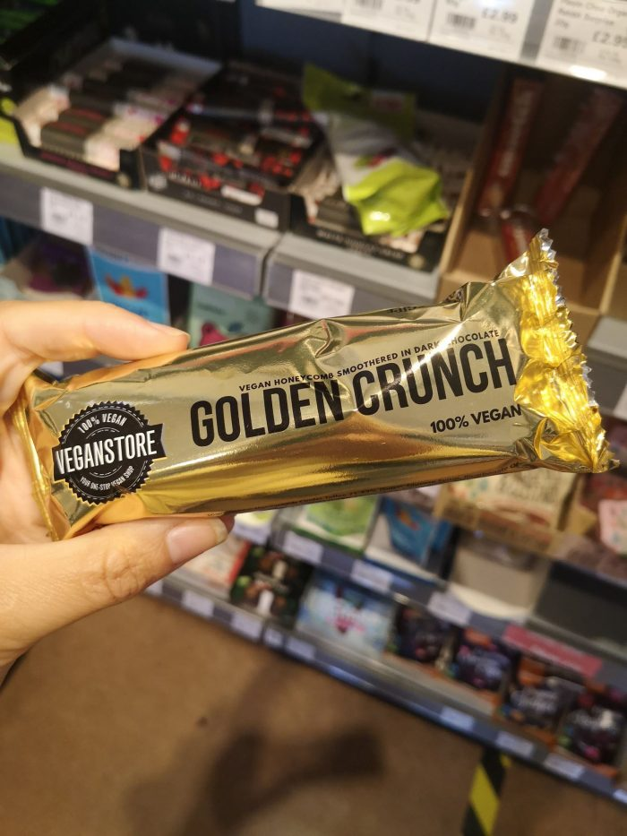 Vegan Store Golden Crunch Bar Dark Chocolate 49g