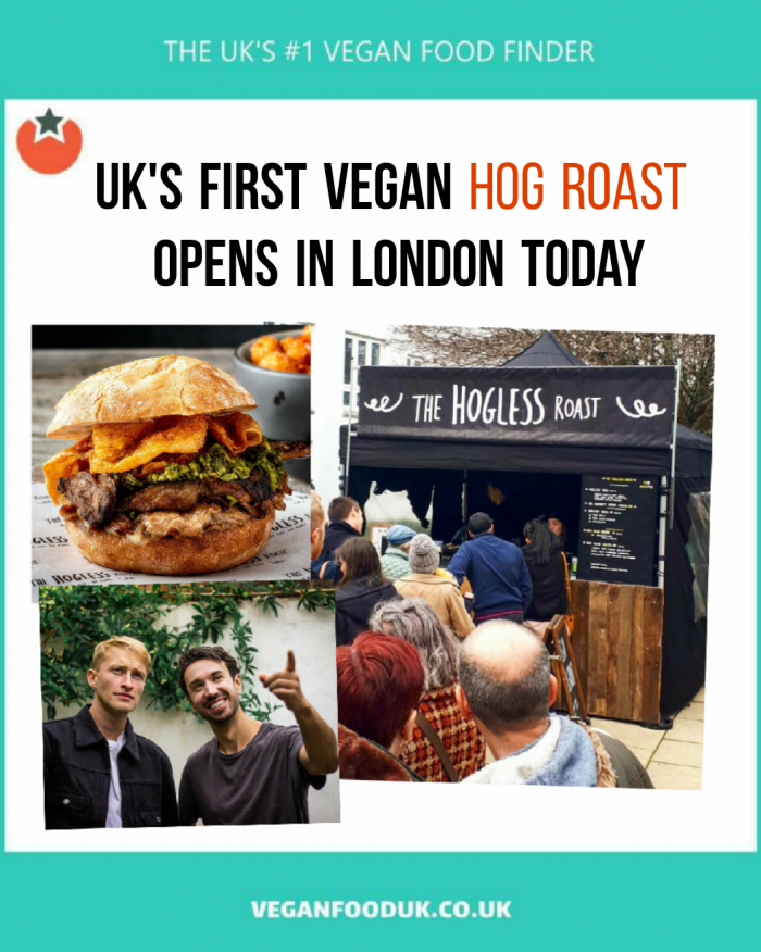The UK's First Vegan Hogless Roast Launches in London Today