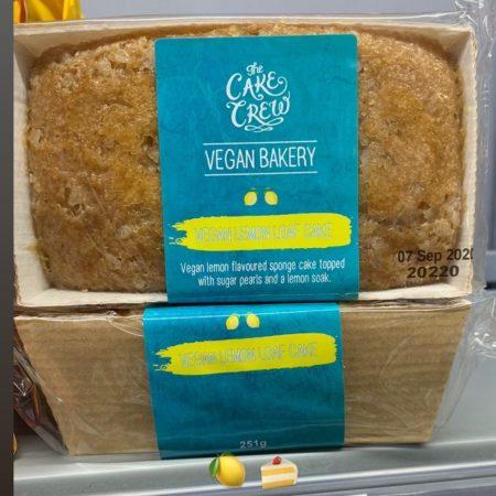 The Cake Crew Vegan Lemon Loaf Cake