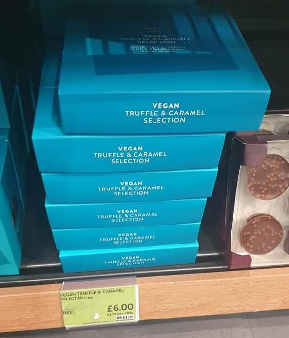 M&S Vegan Truffle and Caramel Selection