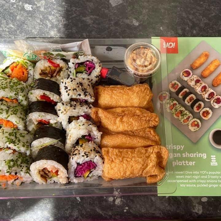 Yo Sushi Crispy Vegan Sharing Platter