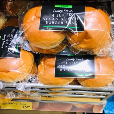 Aldi Vegan Sliced Brioche Buns