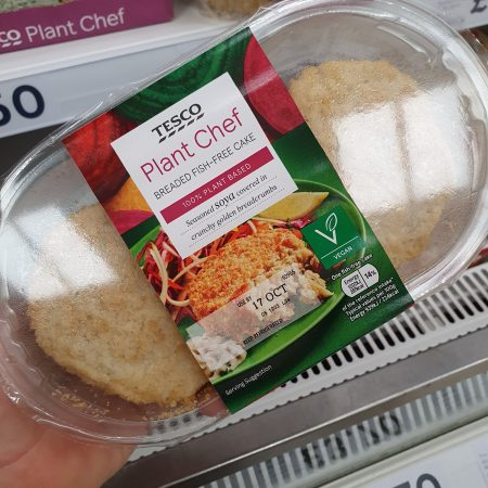 Tesco Plant Chef Breaded Fish Free Cake 270g