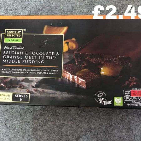 Aldi Belgian Chocolate & Orange Melt in the Middle Pudding