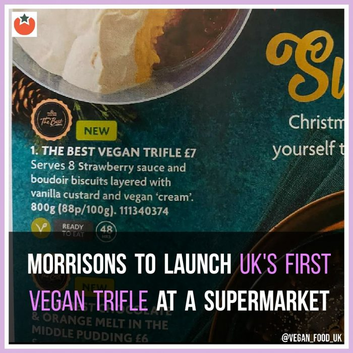 Morrisons To Launch First UK Vegan Trifle