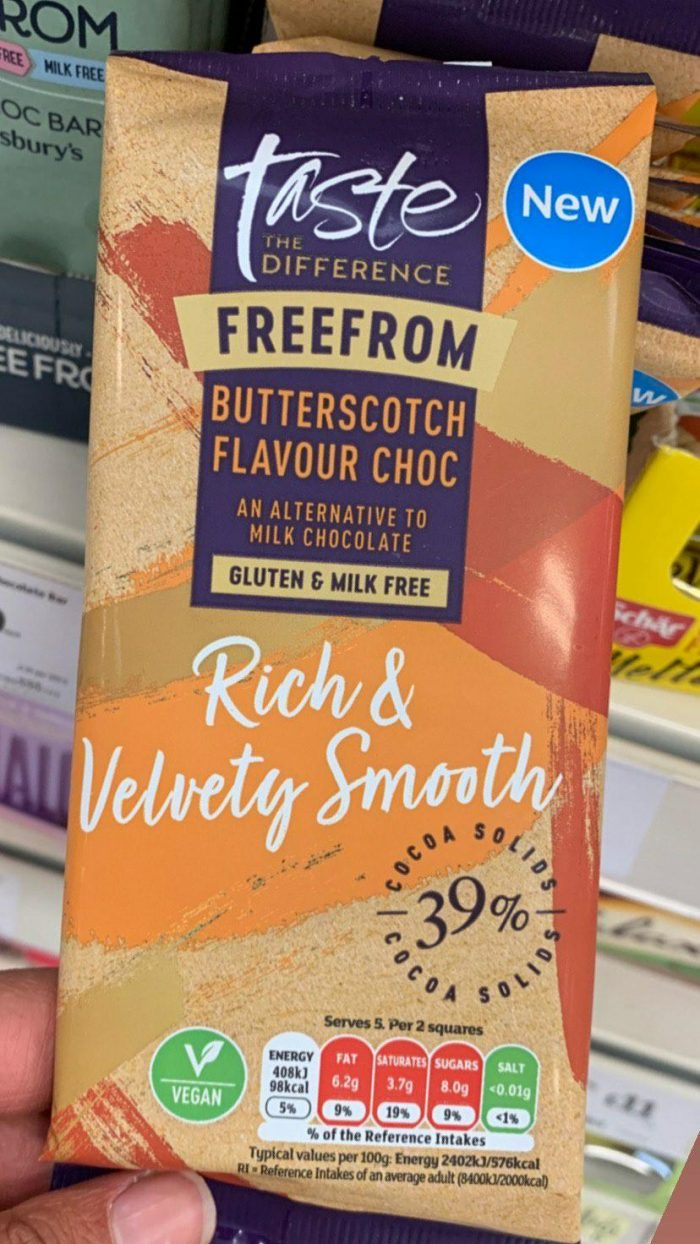 Sainsbury's Taste The Difference Butterscotch Flavour Chocolate