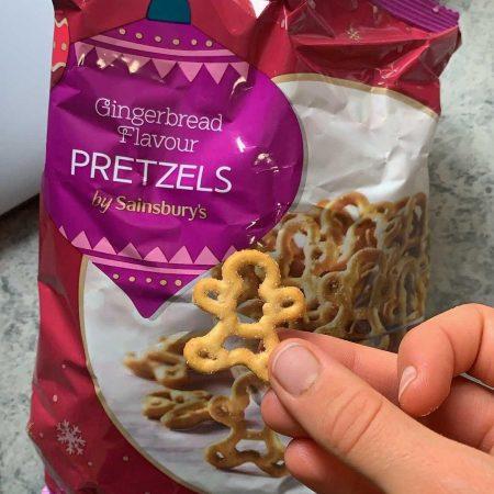 Sainsbury's Gingerbread Flavour Pretzels