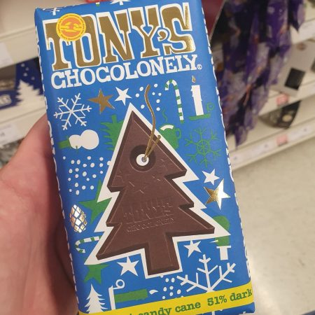 Tony's Chocolonely Dark Chocolate 51% Mint Candy Cane 180g