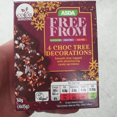 Asda Free From 4 Chocolate Tree Decorations 60g