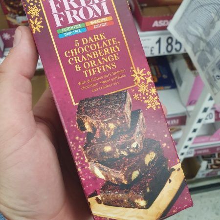 Asda Free From 5 Dark Chocolate, Cranberry & Orange Tiffin