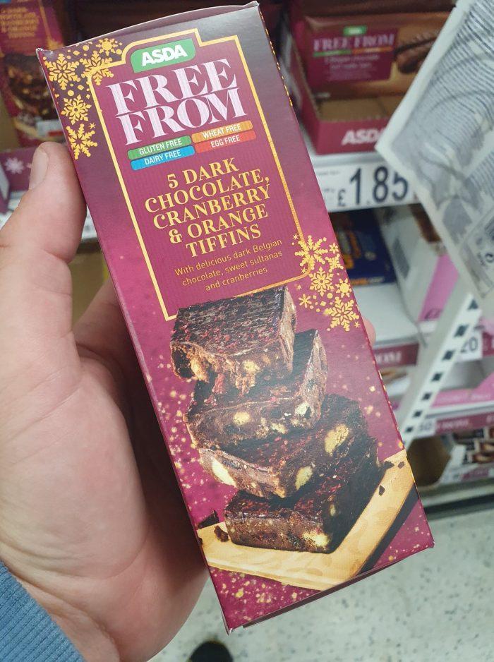 Asda Free From 5 Dark Chocolate, Cranberry & Orange Tiffin