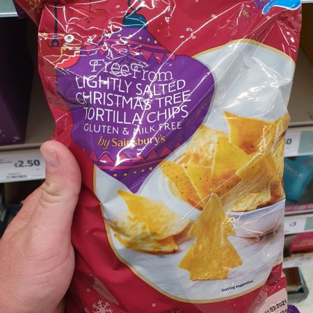 Sainsbury's Free From Salted Christmas Tree Tortilla Chips 200g