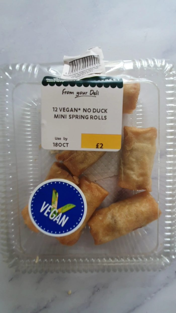 12 Vegan No Duck Mini Spring Rolls