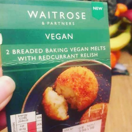 Waitrose 2 Breaded Baking Vegan Melts With Redcurrant Relish 200g