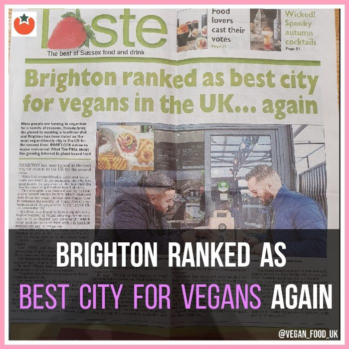 Brighton Ranked As Best City For Vegans Again