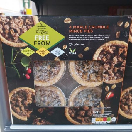 Morrisons The Best Maple Crumble Mince Pies 192g