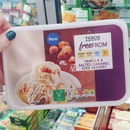 Tesco Free From Vanilla & Salted Caramel Iced Dessert 900ml