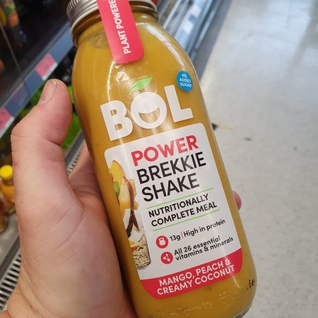 BOL Power Breakfast Shake Mango, Peach & Creamy Coconut 450g