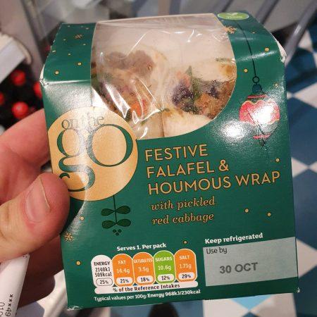 Sainsbury's Festive Falafel & Houmous Wrap