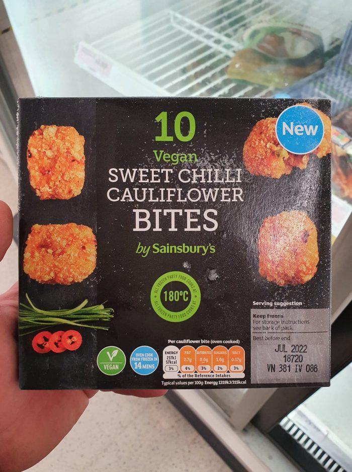 Sainsbury's Vegan Sweet Chilli Cauliflower Bites 180g