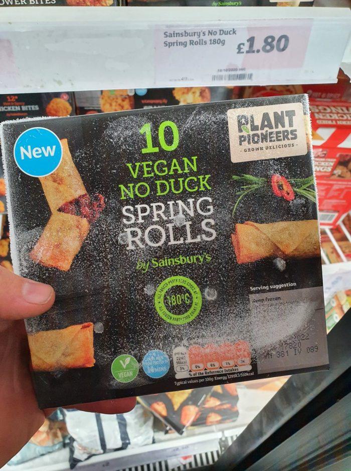 Sainsbury's Vegan No Duck Spring Rolls x10 180g