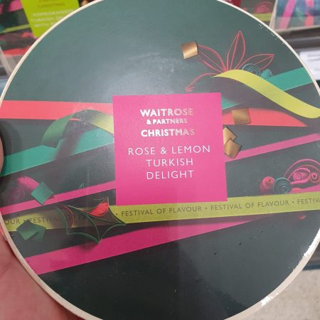 Waitrose Christmas Rose and Lemon Turkish Delight 400g