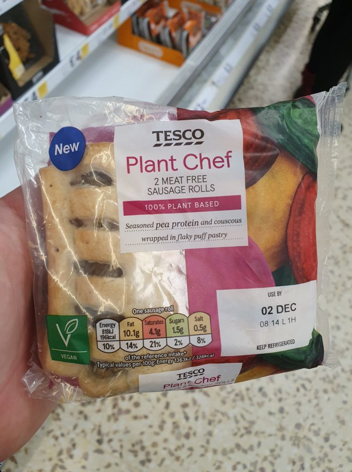Tesco Plant Chef 2 Meat-Free Sausage Rolls 120g