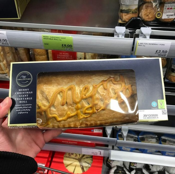 Marks and Spencer Merry Christmas Giant Vegetable Roll