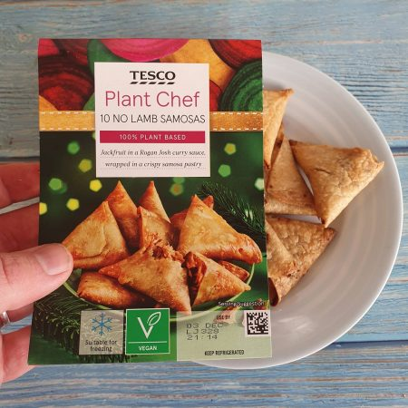 Tesco Plant Chef 10 No Lamb Samosa 200g