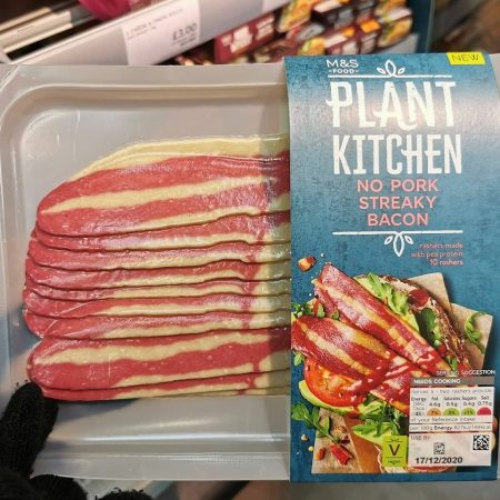 M&S Plant Kitchen No Pork Streaky Bacon