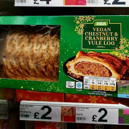 Asda Vegan Chestnut & Cranberry Yule Log 390g