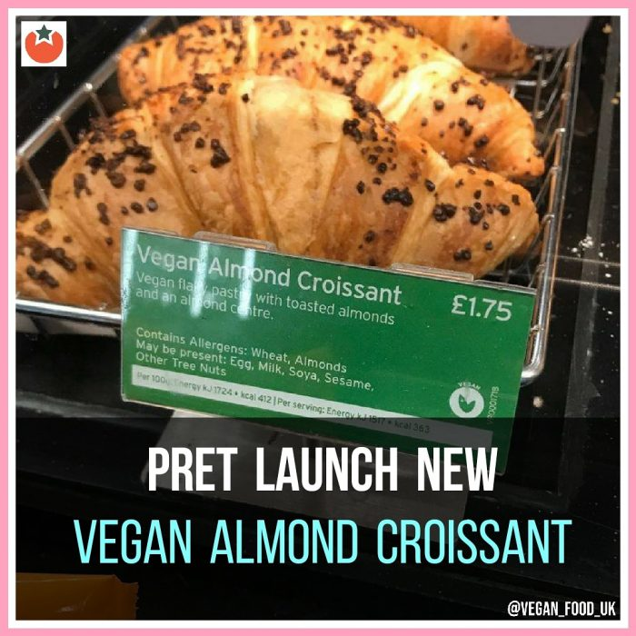 Pret Launch New Vegan Almond Croissant