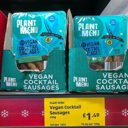 Aldi Plant Menu Vegan Cocktail Sausages 200g