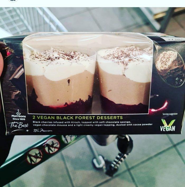 Morrisons 2 Vegan Black Forest Desserts